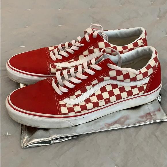 2272e941abb Men s Vans red   white checkered size 12